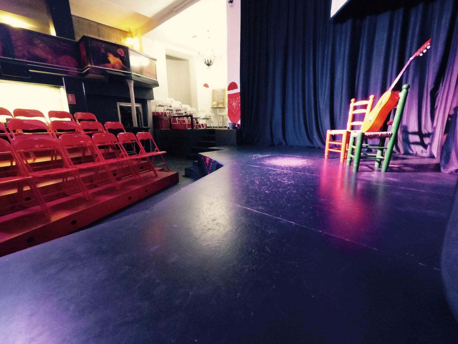 suelo de madera de tablao flamenco